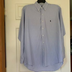 Men's Ralph Lauren long blue sleeve button down
